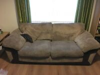 Brown cord sofa x2 DFS good condition £300 ono