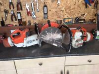 2 x Sthil ts-350 saws. Both won't start one needs pull start