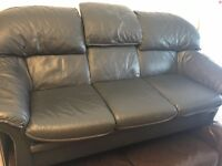 REAL LEATHER SOFA SET 3+1 ARMCHAIR MINT
