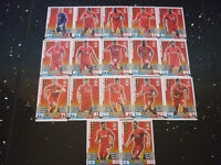 Match Attax 2014 / 2015 - Liverpool Team - Set of 17 Cards