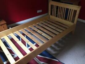 John Lewis single bed frame (and mattress)