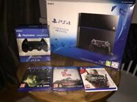 PS4 1To + 2 dual shock 4 + 3 games