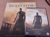 Gladiator special edition video/book/CD and special edition 2disc DVD