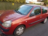 Renault Clio 1149 16v Low Mileage Clean Cheap Runner Ideal First Car Small Cental Locking 3 Door