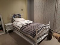 Single bed with guest bed metal. As new house move forces sale.
