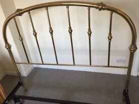 Bed frame and brass headbord