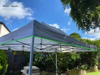 Foldable Pop Up Luxury Gazebo White for Garden and Outdoor use - Waterproof and Lightweight
