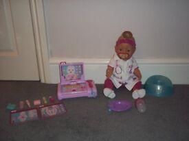 BABY BORN INTERACTIVE DOLL & MEDIClAL SET