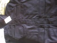 NEW, Mens Black Military Style Jacket, size L