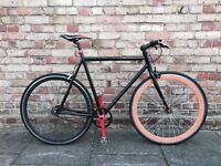 Black single speed / fixie No Logo road bike for 175-190cm tall person