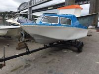 Microplus 501 fisherman 40hp outboard and trailer boat