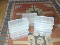 Ladies shoes organiser lidded storage boxes.
