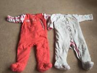 9-12 month Mothercare padded all in ones.