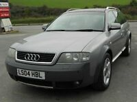 AUDI A6 ALLROAD 2.7 TWIN TURBO QUATTRO AUTO, 2004, PETROL WITH LPG CONVERSION, 62'000 MILES, FSH VGC