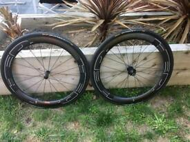 New HED Jet 6 Plus Black Wheel set with tyres