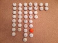 40 Golf Balls for sale. (Titleist, Callaway, Srixon, Taylor Made, Nike, Maxfli)