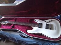 Schecter diamond series c7 guitar with hardcase