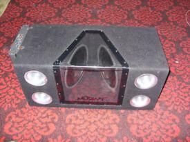 "Mutant Subwoofer Audio MT10DBP 10"" 1200 Watts Twin Ported Car Sub Bass Boom"