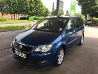 VW TOURAN 2.0 TDI SPORT 140BHP FACELIFT 2009 7 SEATER, DRIVES LOVELY TOP SPEC PX WELCOME