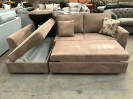 Brand new brown chorded corner sofa bed