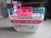 Barbie cruise ship, vending machine and wardrobe