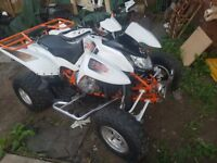 Apache RLX 450 road leagal quad converted SUPER QUAD mot'd quad rack inc quad box