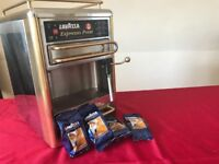 Lavazza Espresso Point to sale. Old fashion coffee machine always on.
