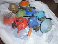 Assorted gas bottle fittings