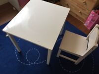 IKEA children's SUNDVIK chair and table (plus FREE Mammut Stool)