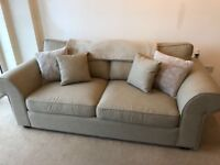Beige ideal home 3 seater sofa