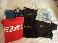 Mens T shirts x 11 - etnies/quicksilver etc - Chatham