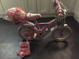 "Girls bicycle 4yrs and over. 14"" wheels."