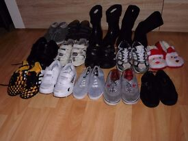 Huge Mixed Bundle of Boys Shoes Size 10 Junior- 15 Pairs