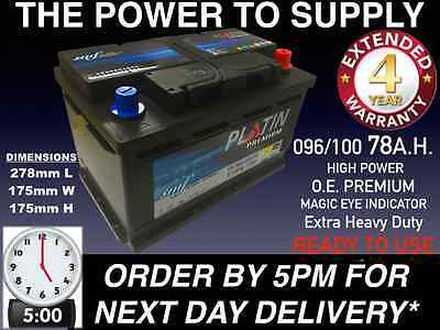 Car Parts - New Genuine OEM Heavy Duty Car Battery - Type 096 100 78ah 4 YEAR GUARANTEE 24HR
