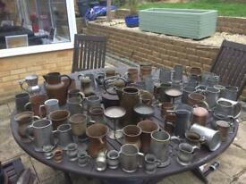 Over 65 English pewters including copper