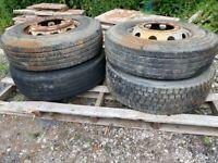 Lorry wheels
