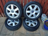 "4x ford focus 16"" alloys with tyres"