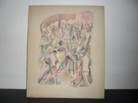 Painting of Sports Players - 1937