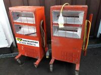 2 Red Rads - 110v Radiant Quartz electric heaters