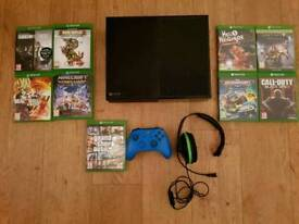 Xbox one and 10 games plus headset