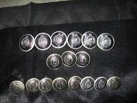 Sell vintage collection of police Buttons from 1970 and a collection of pins