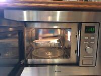 Build in microwave/ grill stainless steel