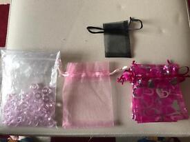 34pcs Crystal Pandora Style Beads & 9pcs Organza Bags