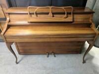 Gorgeous Oak 'Knight K15' Upright Art Deco Console Piano - CAN DELIVER