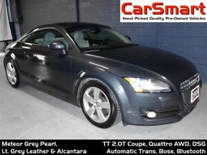 2009 Audi TT 2.0T (S tronic), Quattro AWD, Bluetooth, Leather