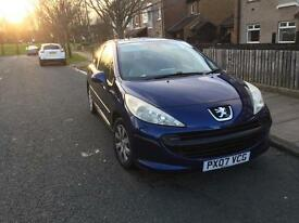 2007 Peugeot 207 very low milliage 70k