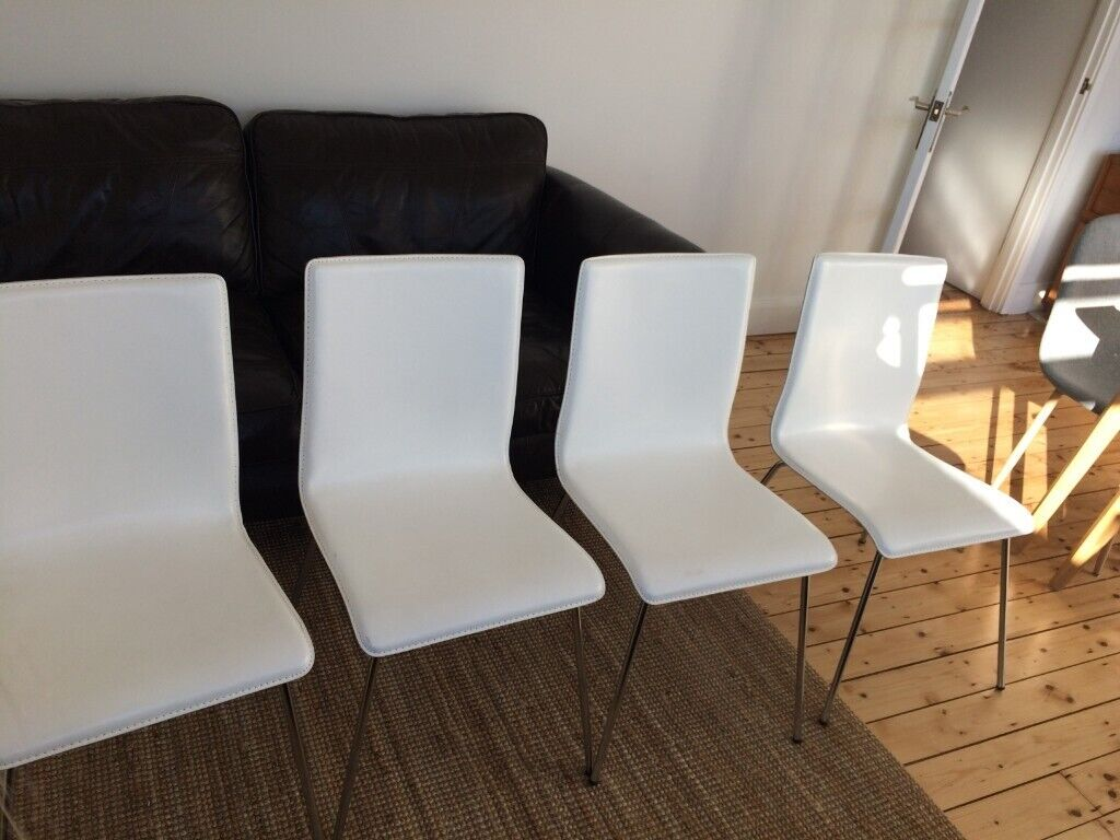 Amazing Sold Designer Real Leather Dining Chairs From Heals Chrome Steel Legs Elegant And Modern In Kingston London Gumtree Andrewgaddart Wooden Chair Designs For Living Room Andrewgaddartcom