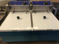 Commercial double tank chip Fryer catering resturant hotels pubs cafe job lot