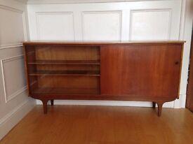 Vintage, teak, retro, mid-century bookcase/cabinet.