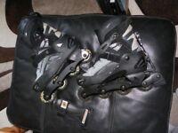 Rollerblades - UK Size 10 Mens - Unused + Wrist Guards/Knee Pads